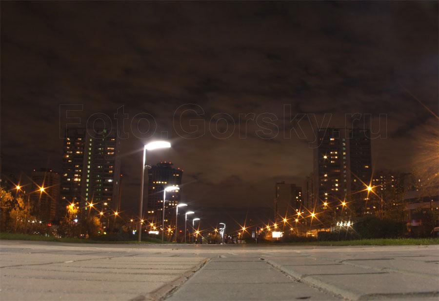 Москва спальный район строгино ночью